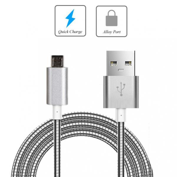 BLACK MICRO USB CABLE FAST CHARGER POWER CORD DATA SYNC WIRE For PHONE /& TABLETS