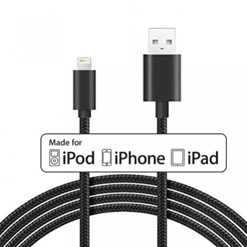 18w fast home quick charger braided 6ft long mfi usb cable for iphone ipad ipod